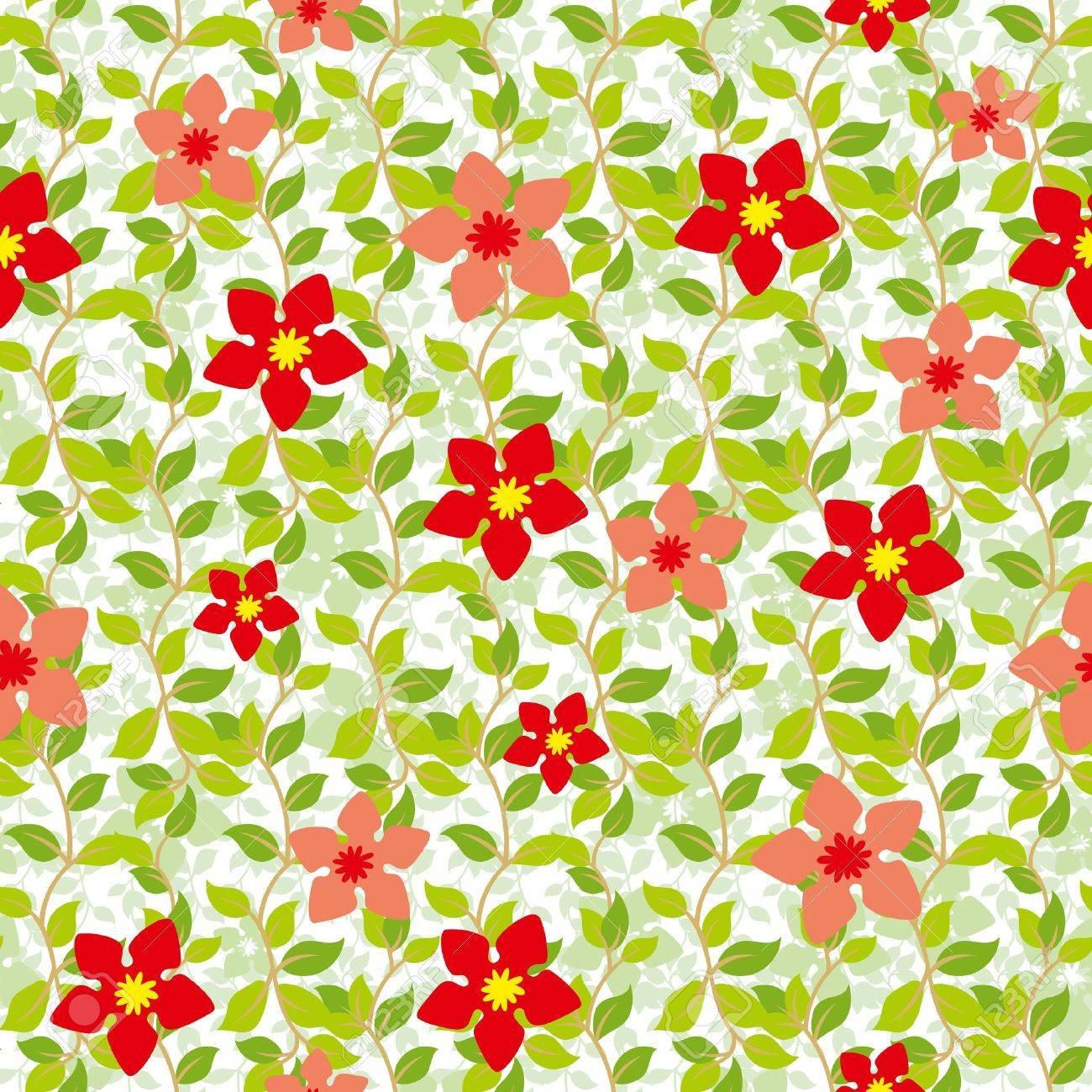 Seamless background from a floral ornament, Fashionable modern wallpaper or textile - 14665729