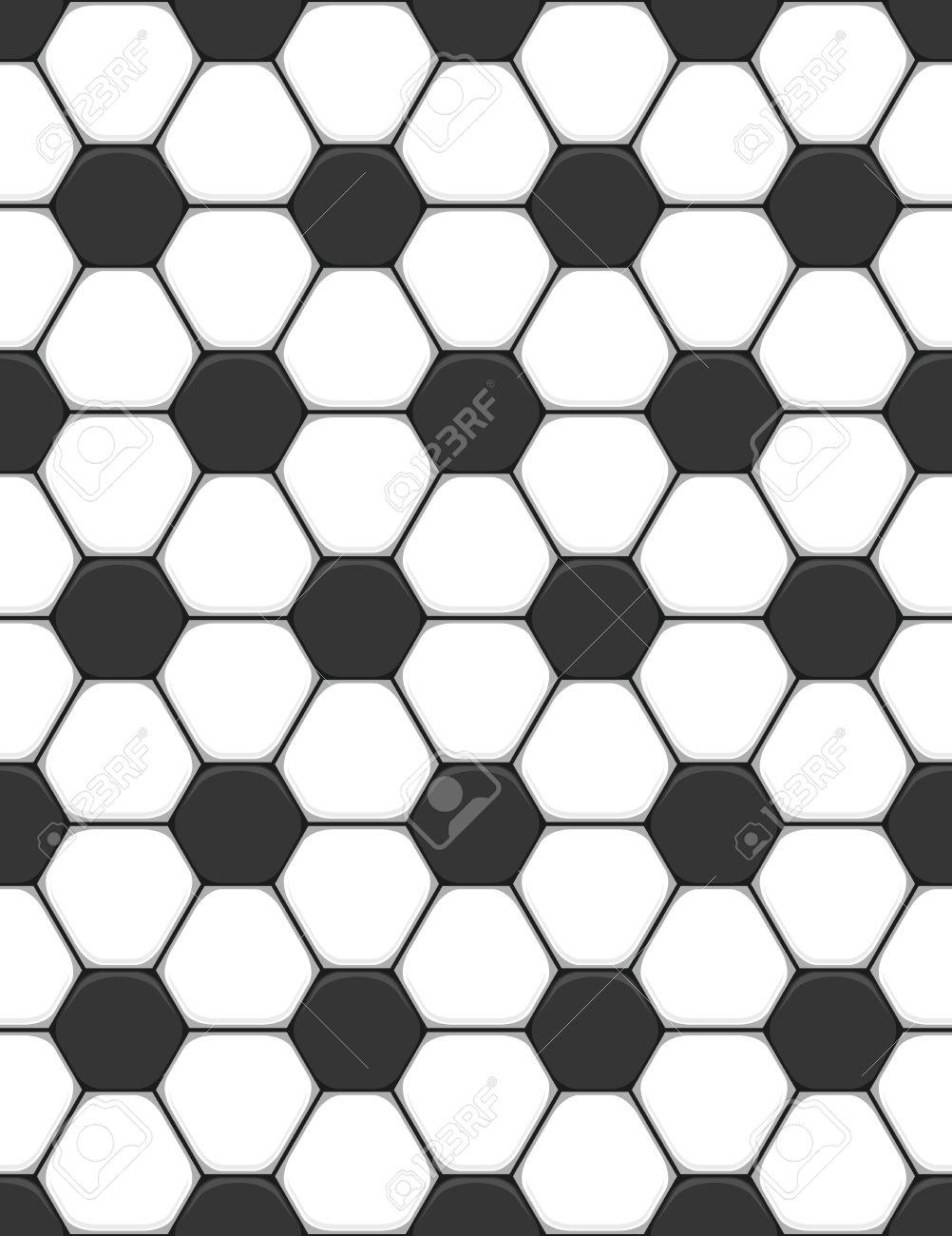 seamless texture on a soccer theme - 14769466