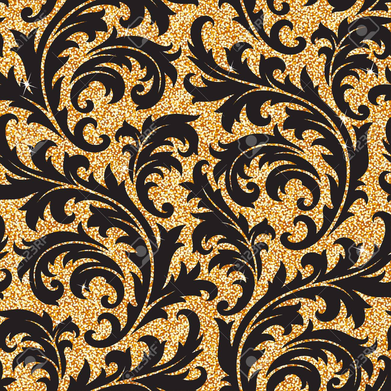 Fond Transparent D Un Ornement Floral Dore Papier Peint Ou Textile