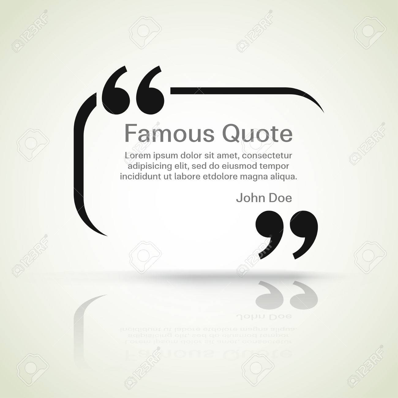 rectangle quote box with your text, quotation marks. - 47769094
