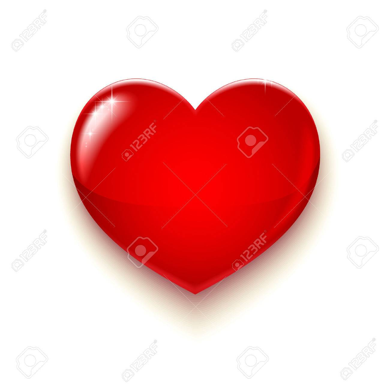 Big Red Heart for Valentines day and more, Vector Illustration - 48011149