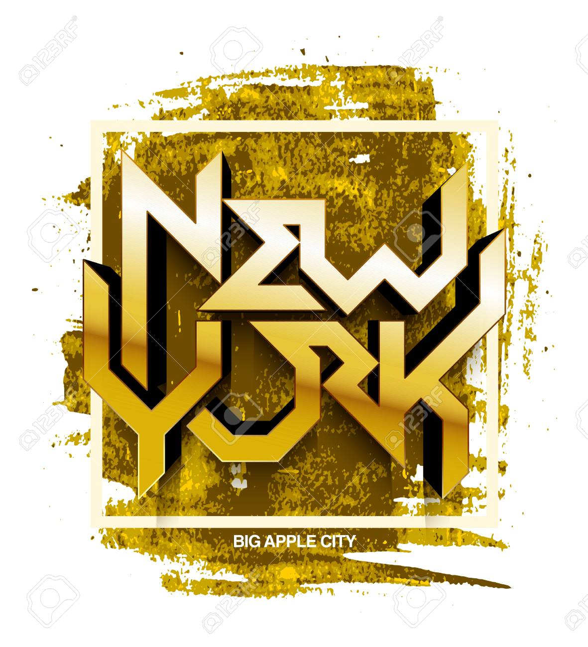 Vintage T-shirt Or Cover Print Design Of New York Lettering ...