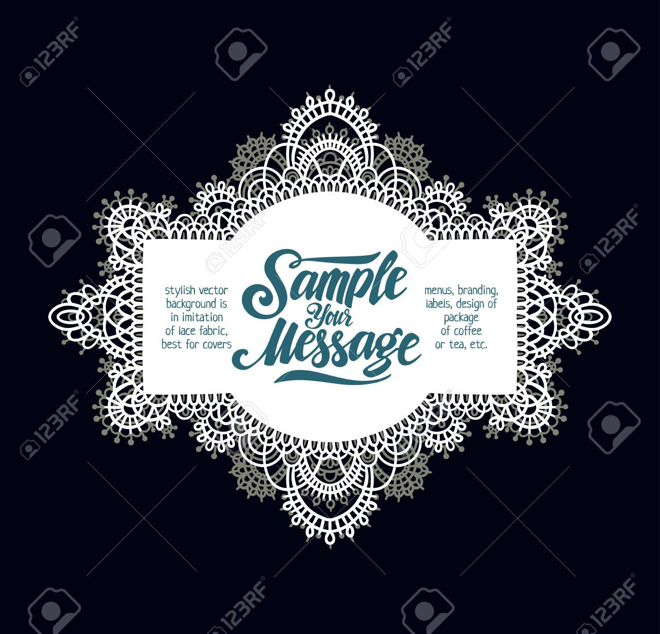 Stylish Vector Background Is In Imitation Of Lace Fabric 4719817f5