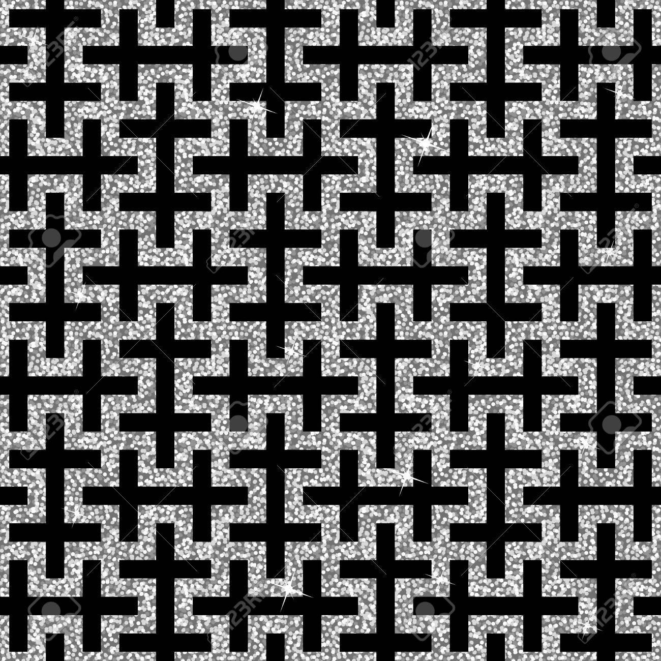 Seamless Background A Partir D Un Ornement De Croix Gammee D Argent