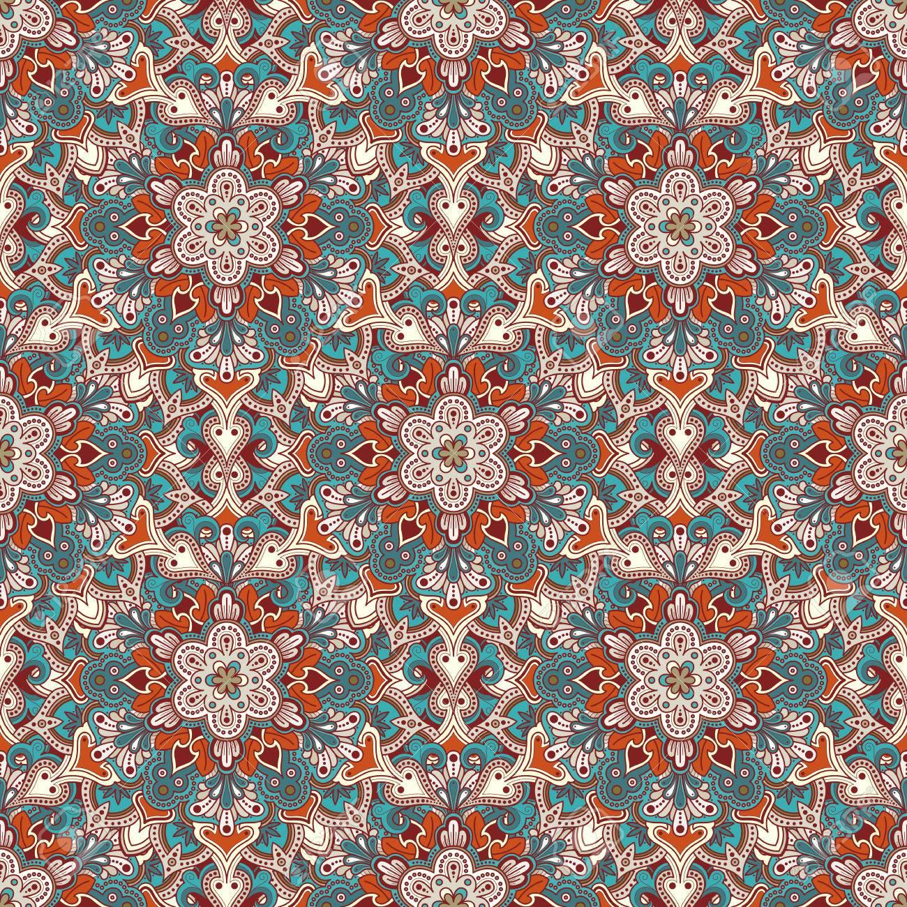 boho stil blume nahtlose muster fliesen mandala design am besten fr druckgewebe oder - Boho Muster