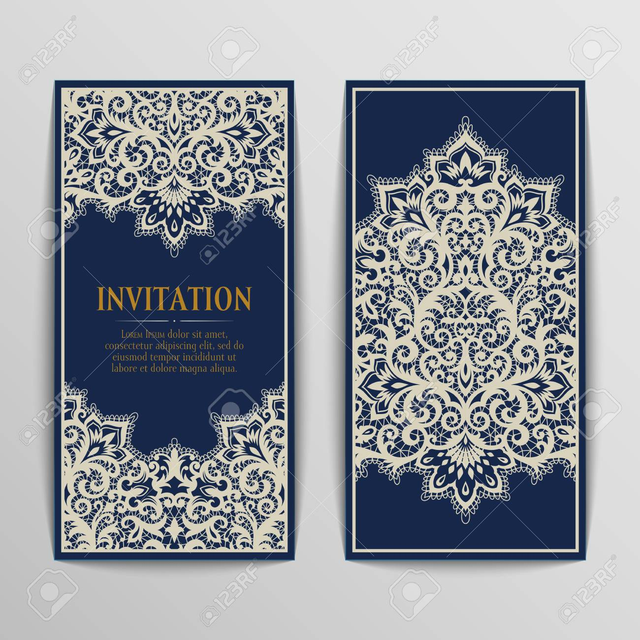 Set of antique greeting cards invitation with victorian ornaments set of antique greeting cards invitation with victorian ornaments beautiful luxury postcards stock kristyandbryce Images
