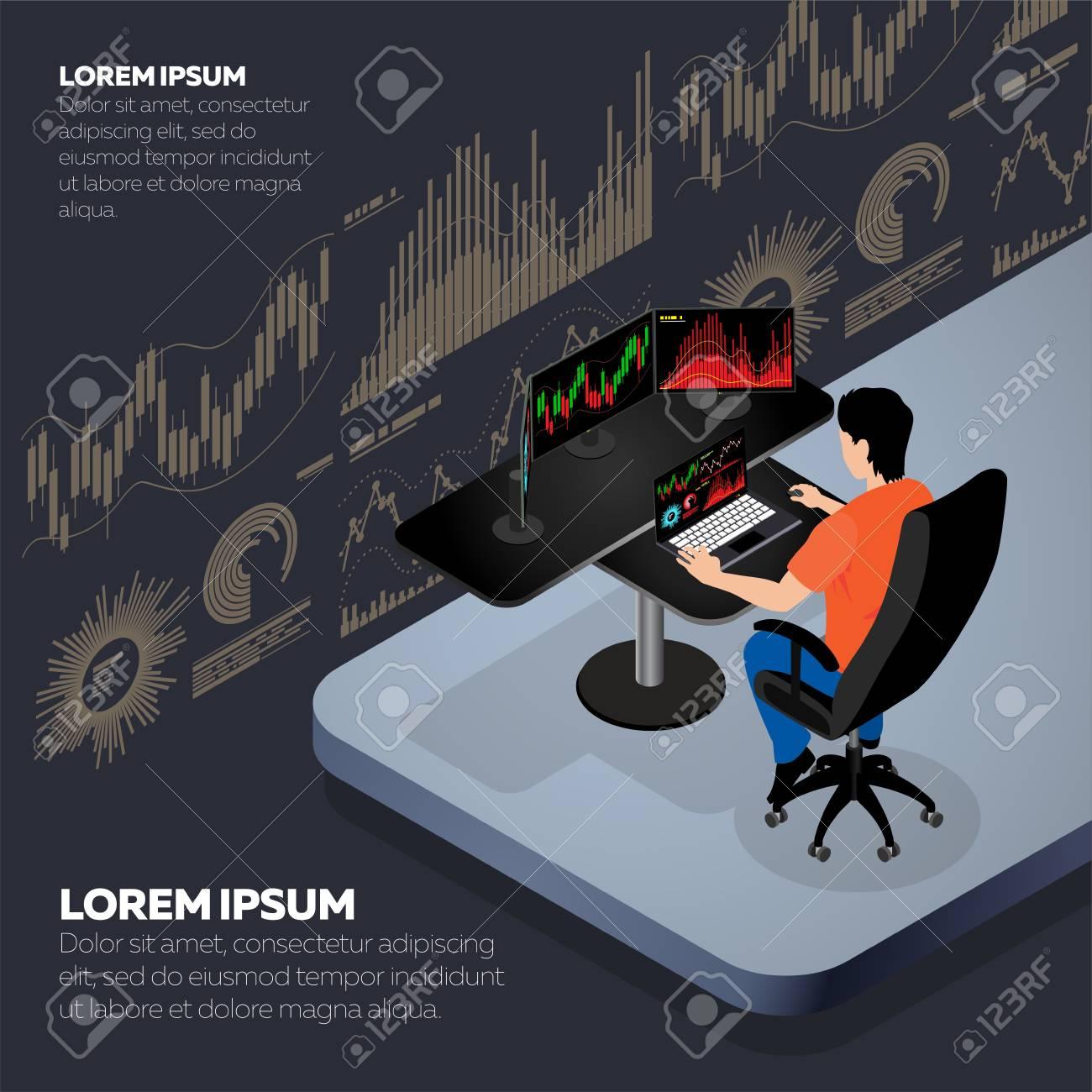 Businessman or stock market trader - 103197254