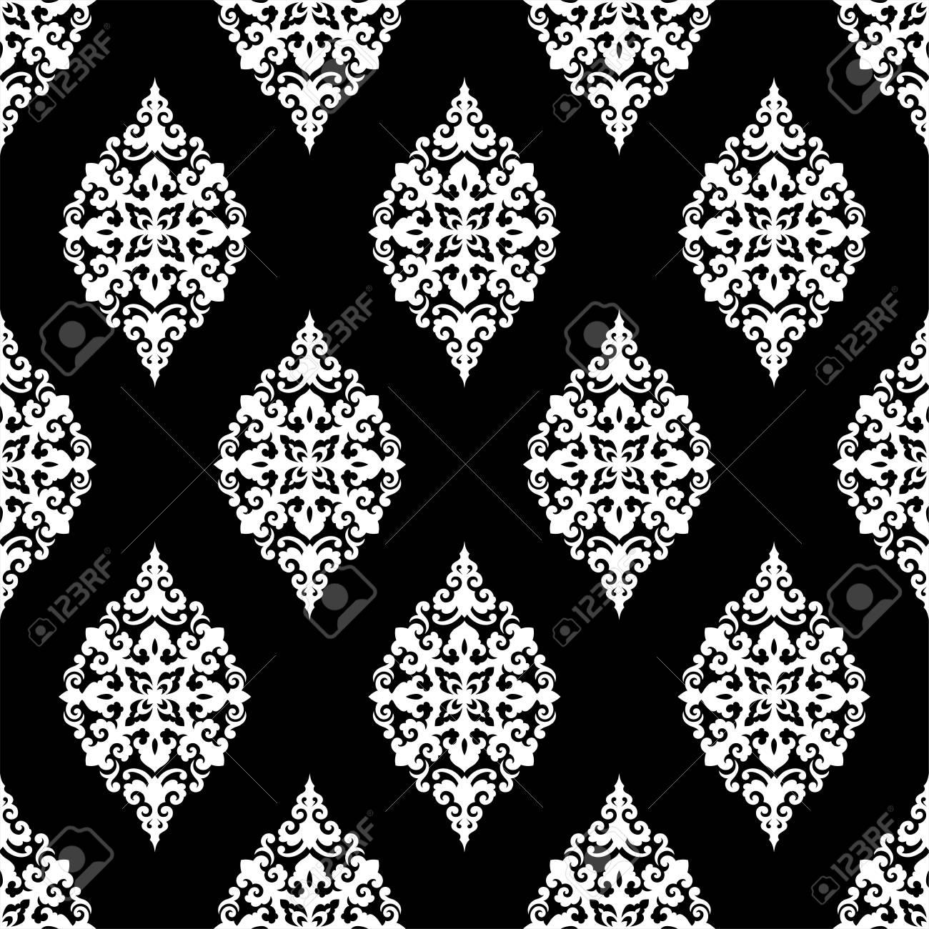 Seamless vector pattern. Traditional asian ornamental motive. - 125667863