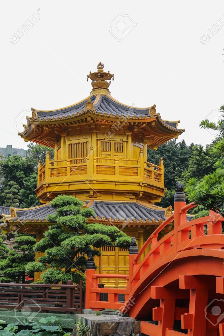 chi lin nunnery and nan lian garden hong kong stock photo 96008063 - Nan Lian Garden