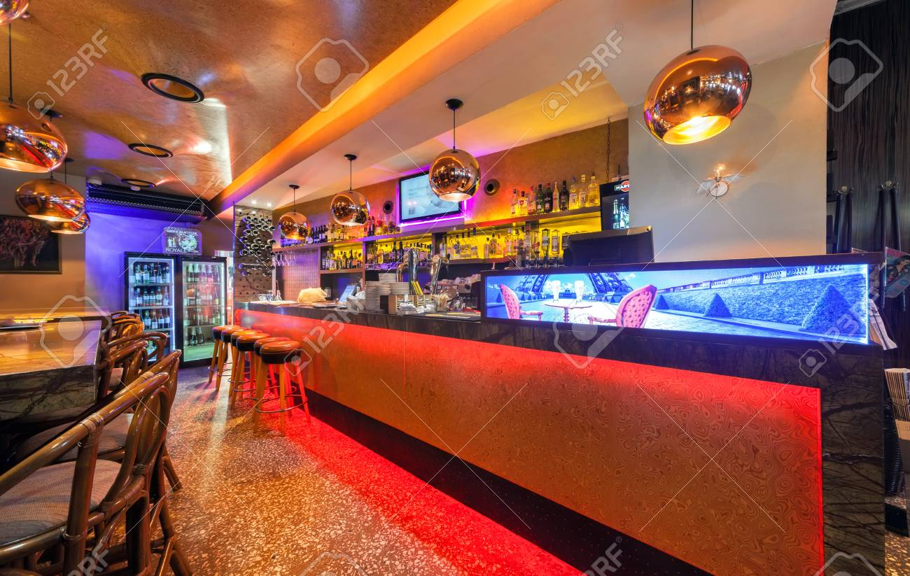 Moscow July 2014 Interior Of A Luxury Restaurant Ogni Modern Stock Photo Picture And Royalty Free Image Image 60797329