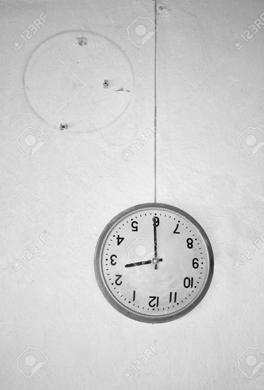 71250875 hanging on the wire runaway wall clock the concept of wasted time attractive clock wire guard vignette electrical diagram ideas