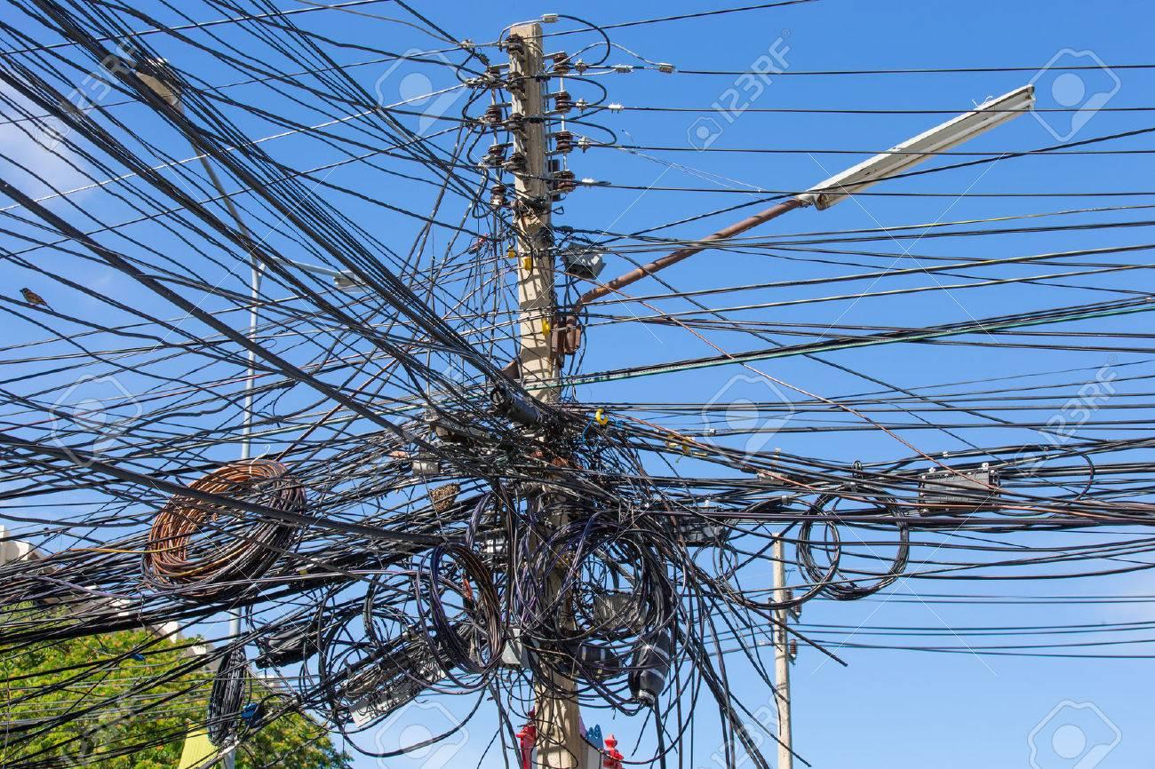 Messy Wiring Telephone Pole - House Wiring Diagram Symbols •