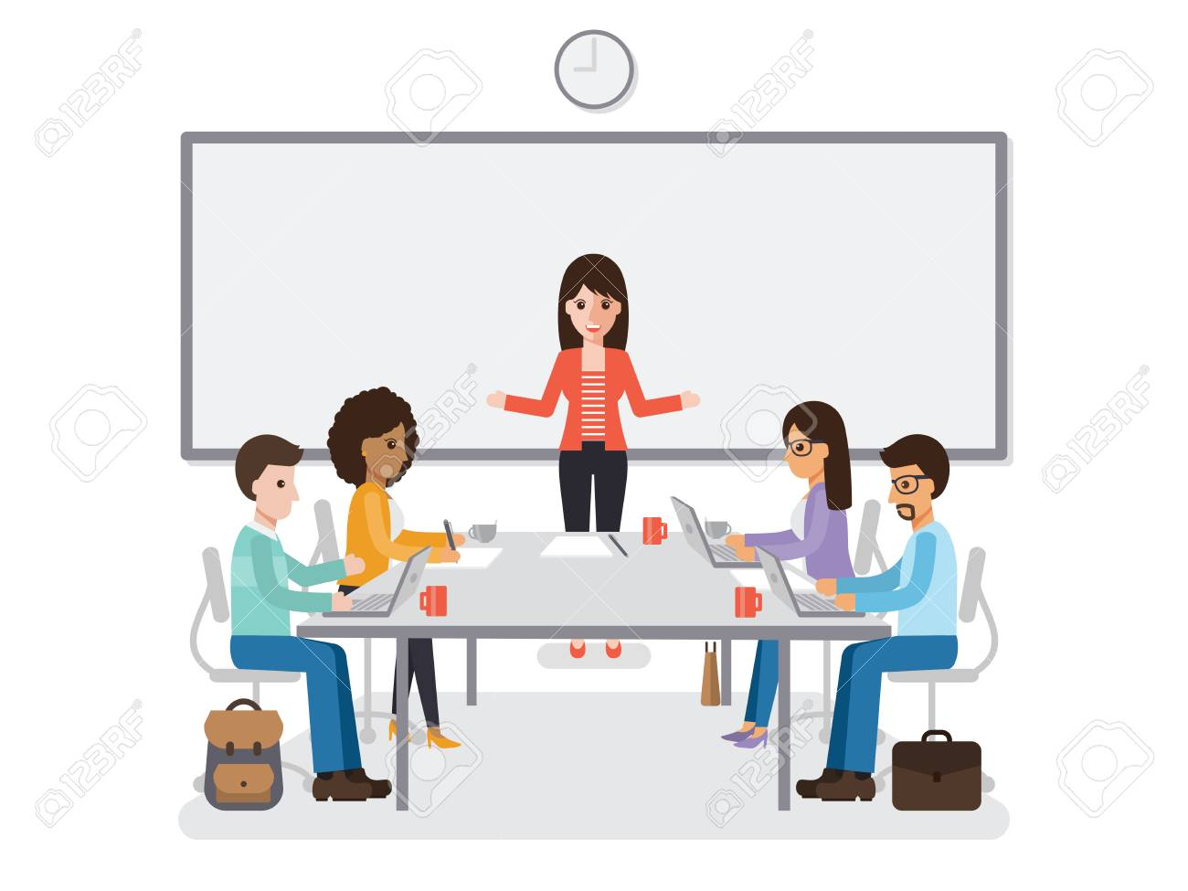 Image result for cartoon images of meeting rooms