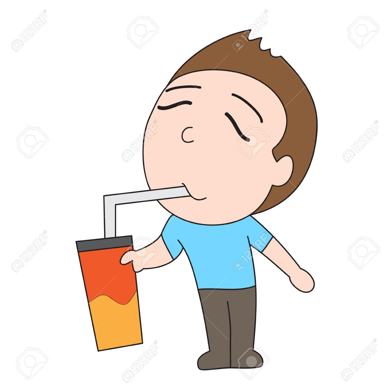 Vector De Dibujos Animados Carácter Del Hombre De La Bebida Fría  Ilustraciones Vectoriales, Clip Art Vectorizado Libre De Derechos. Image  55105522.