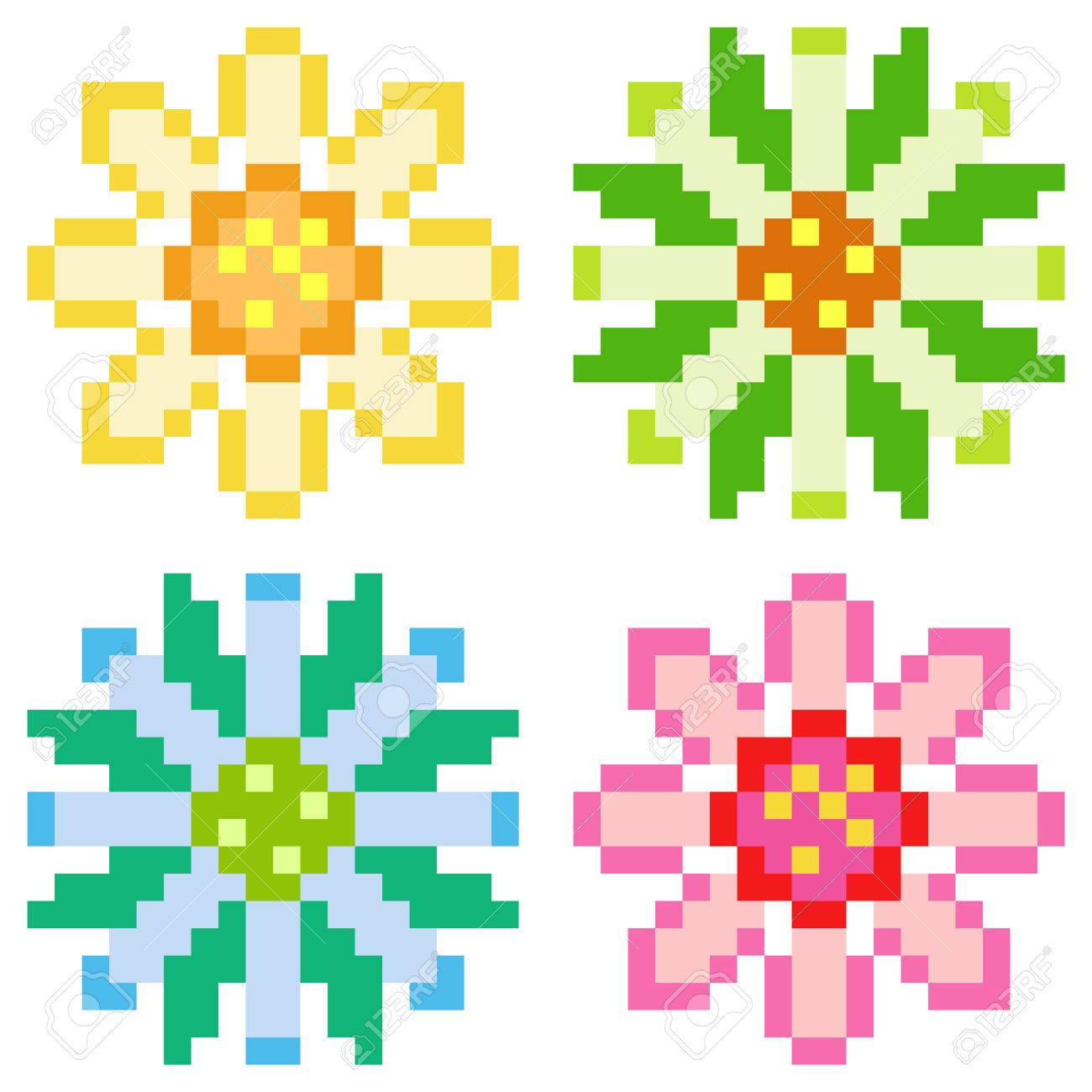 Awesome Pixel Art Flower @KoolGadgetz.com