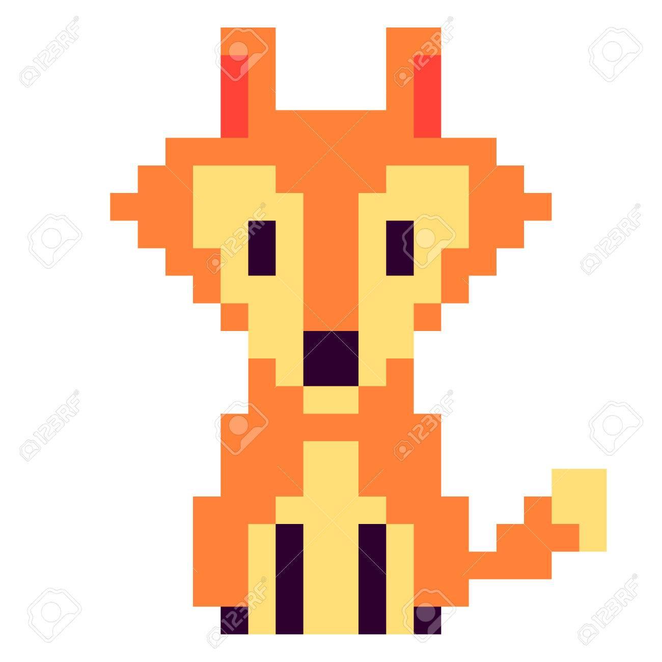 Dessin Pixel Renard Facile