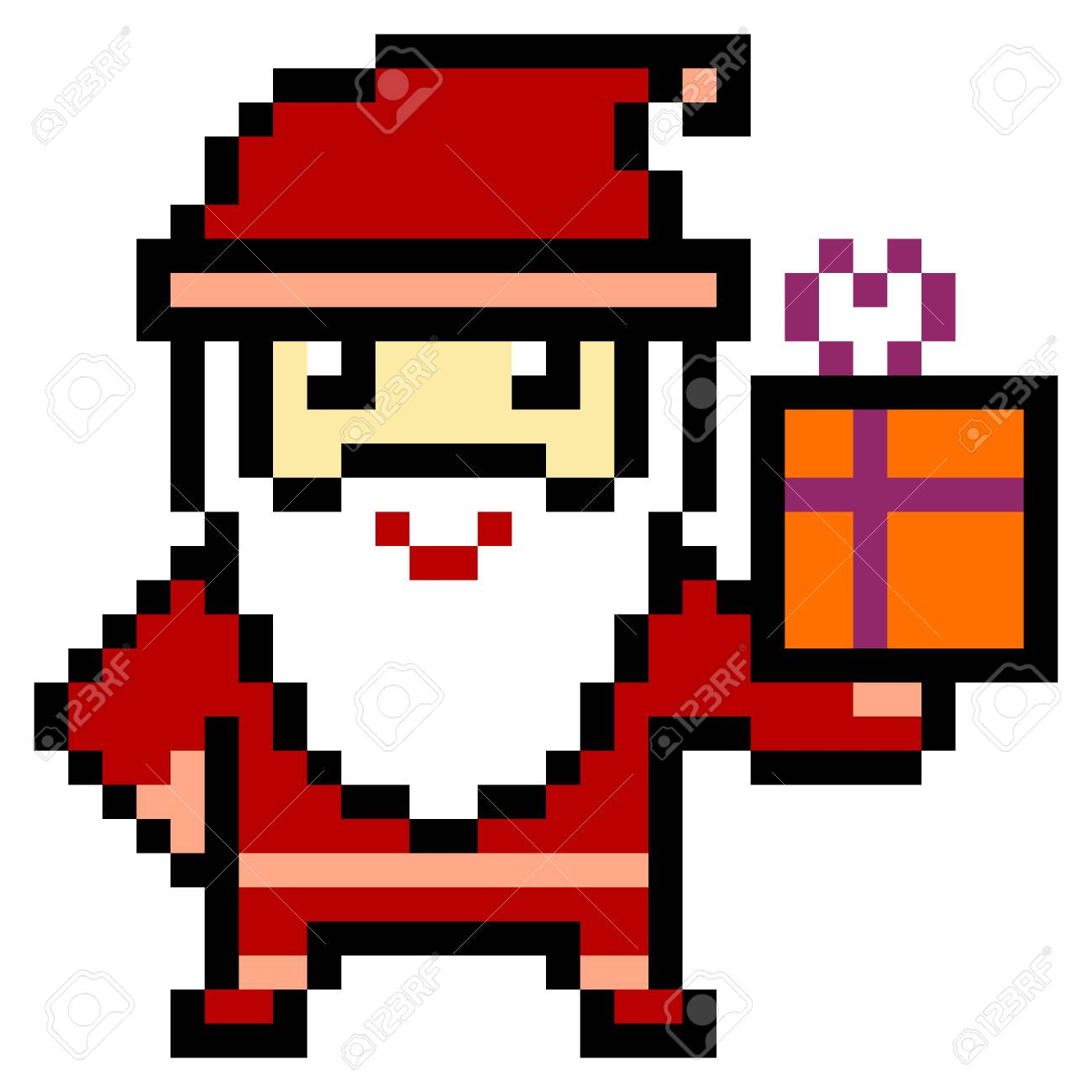 Art Illustration Design Pixel Père Noël