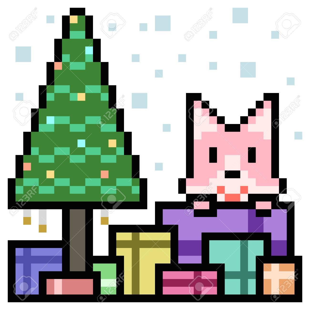 Boîte De Cadeau De Chat Dart De Pixel