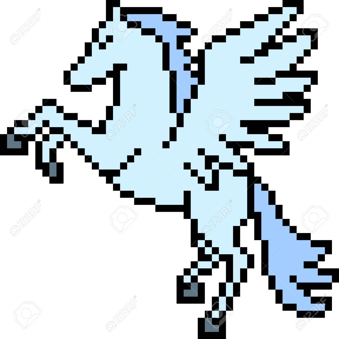 Pixel Art Pegasus Isolated Royalty Free Cliparts Vectors And Stock