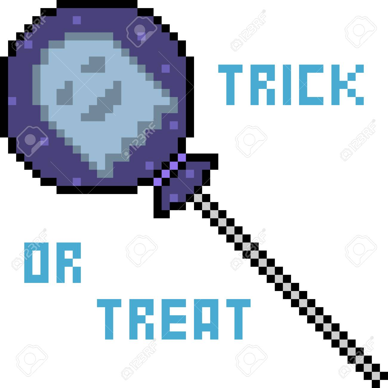 Vector Pixel Art Candy Halloween Isolated