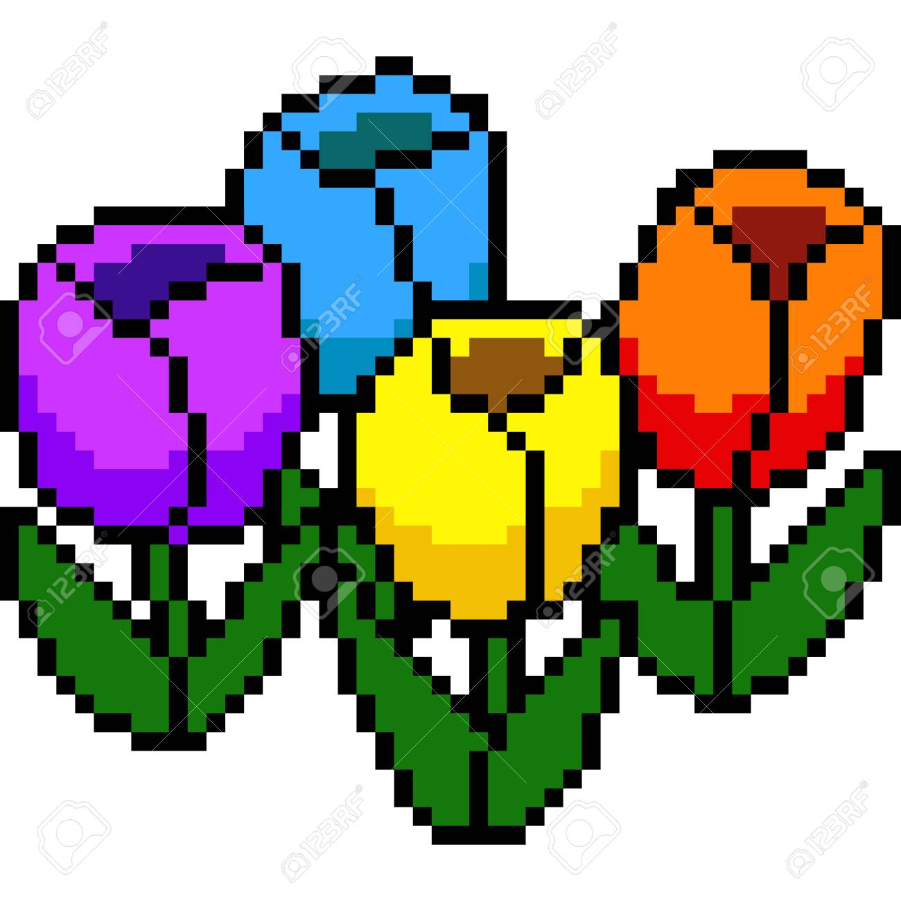Pixel Art De Fleure