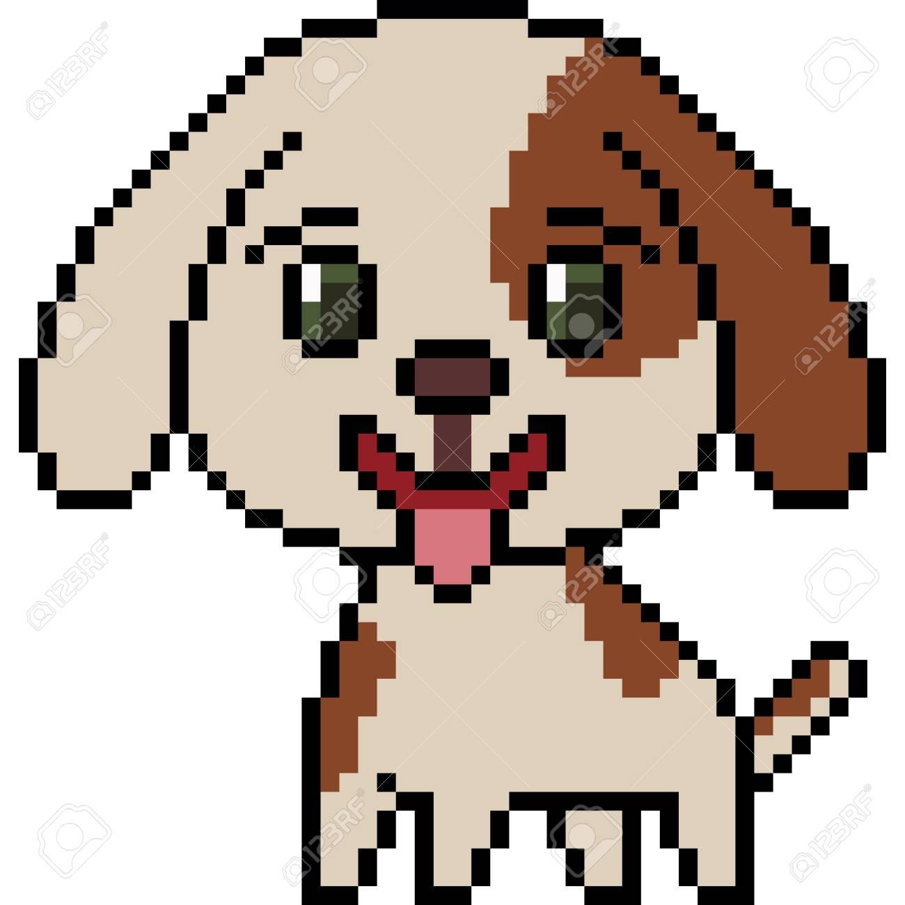 Dessin Pixel Art Chien
