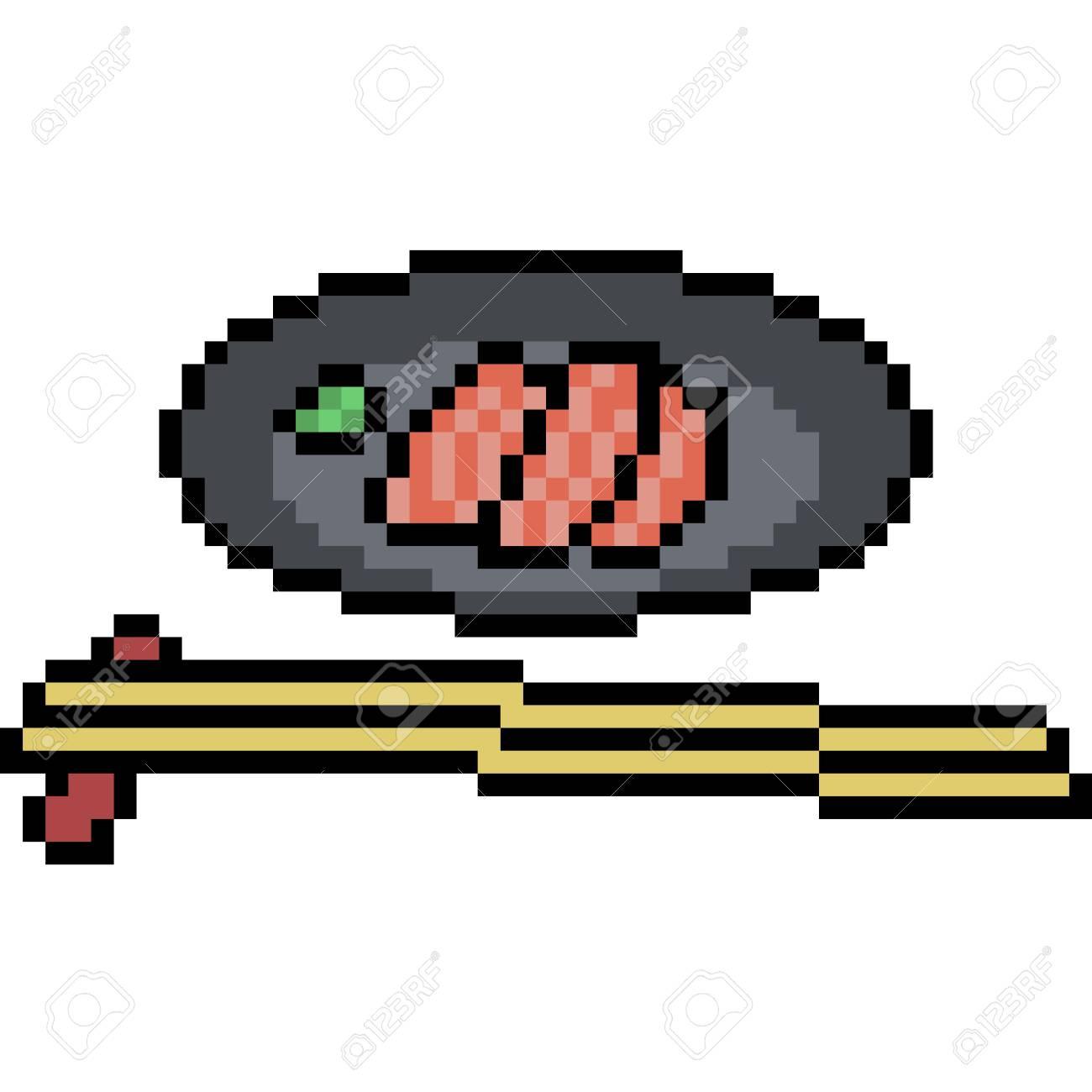 Vecteur Pixel Art Restaurant De Nourriture Isolé