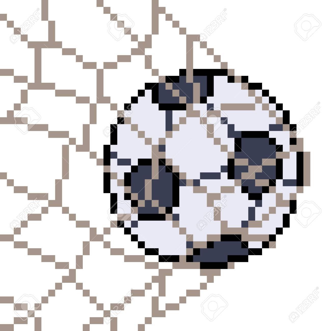 Vector Pixel Art Football Isolated
