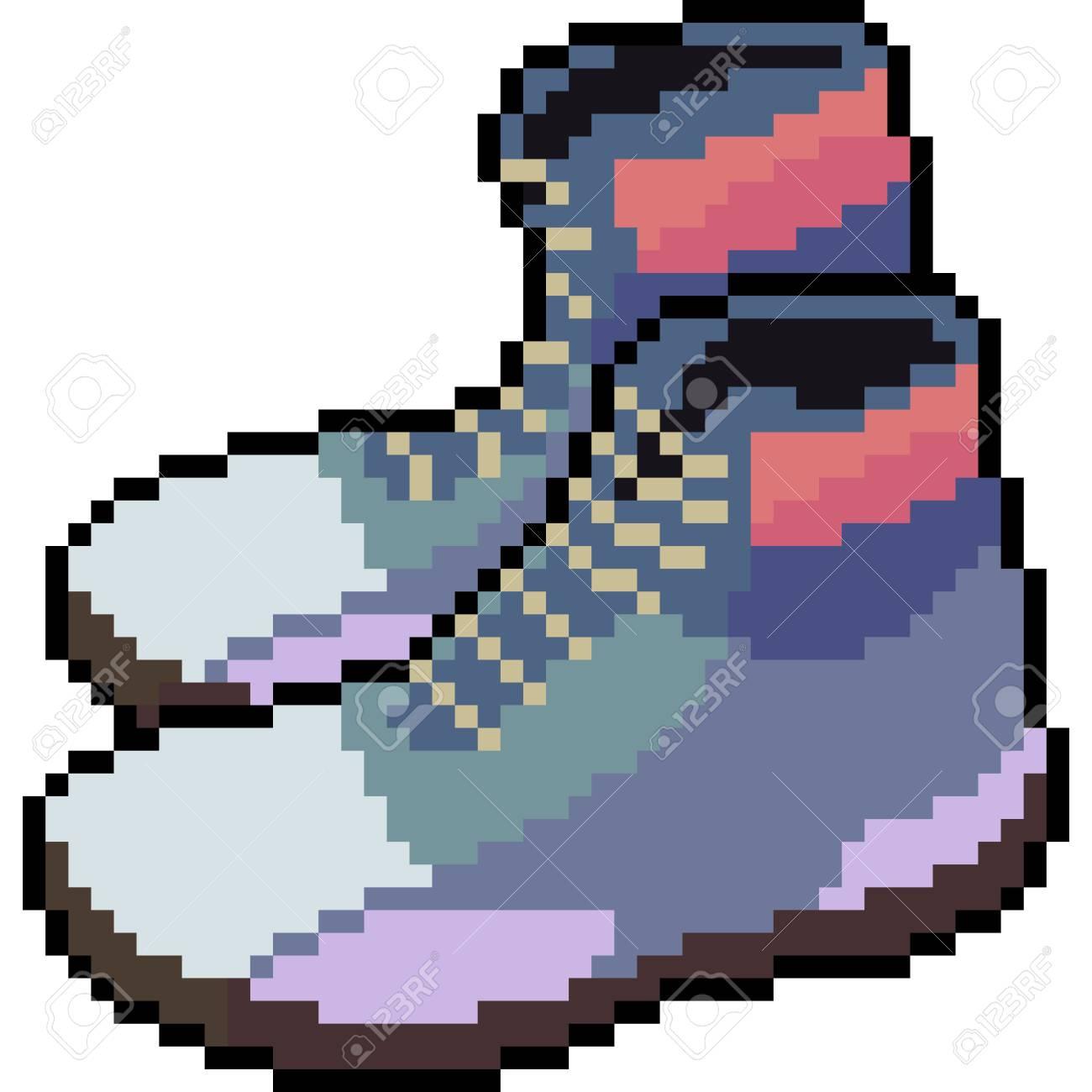 Vecteur Pixel Art Mode De Beauté De Bande Dessinée Isolé