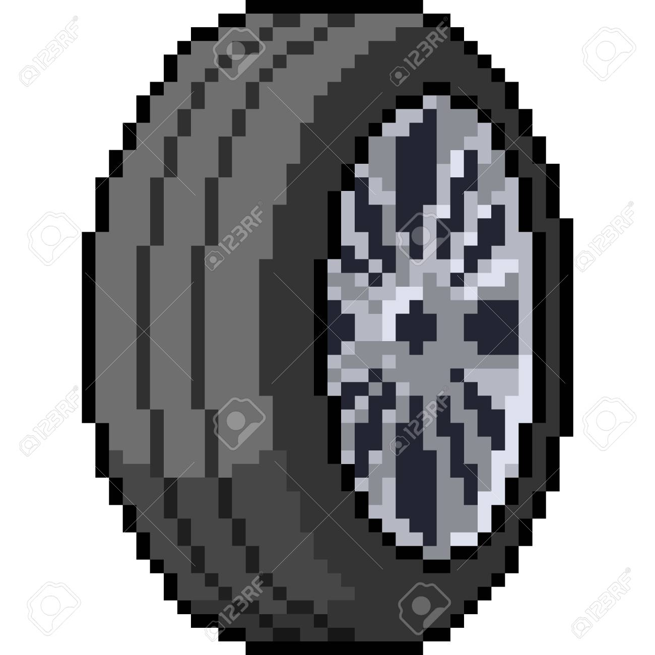 Vector Pixel Art Car Wheel Isolated Cartoon Royalty Free Cliparts Vectors And Stock Illustration Image 107204881