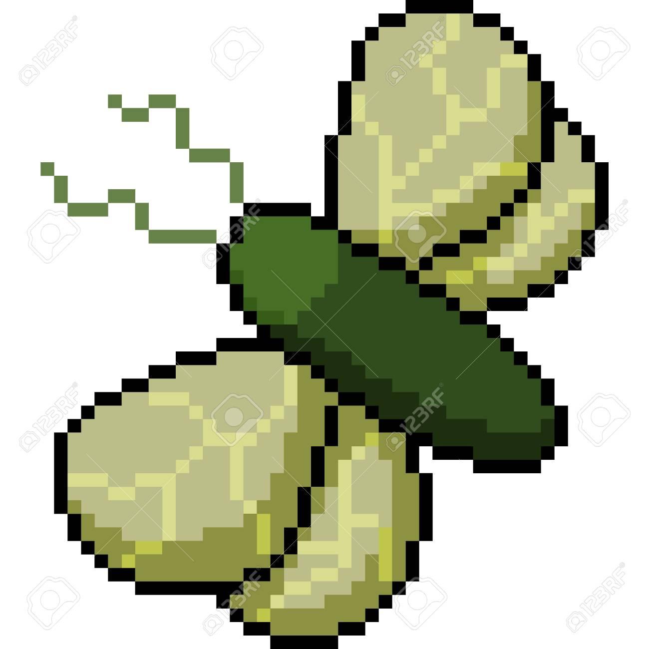 Vector Pixel Art Fly Isolated Cartoon