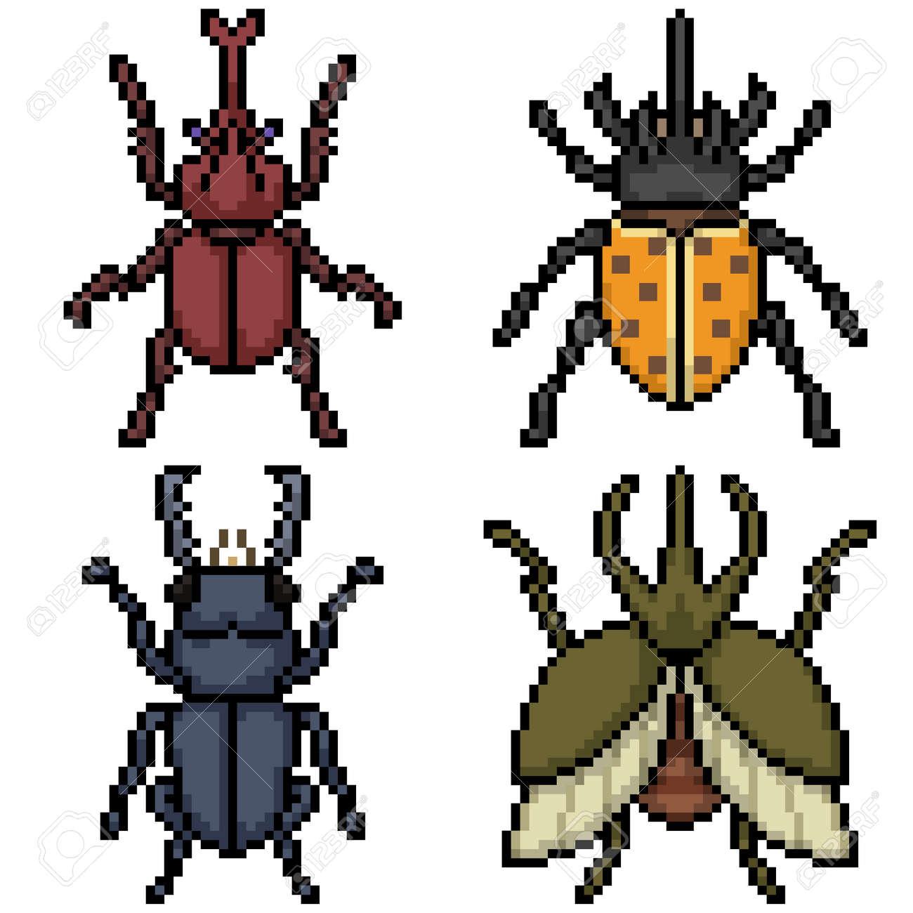 pixel art of beetle top view - 169439819