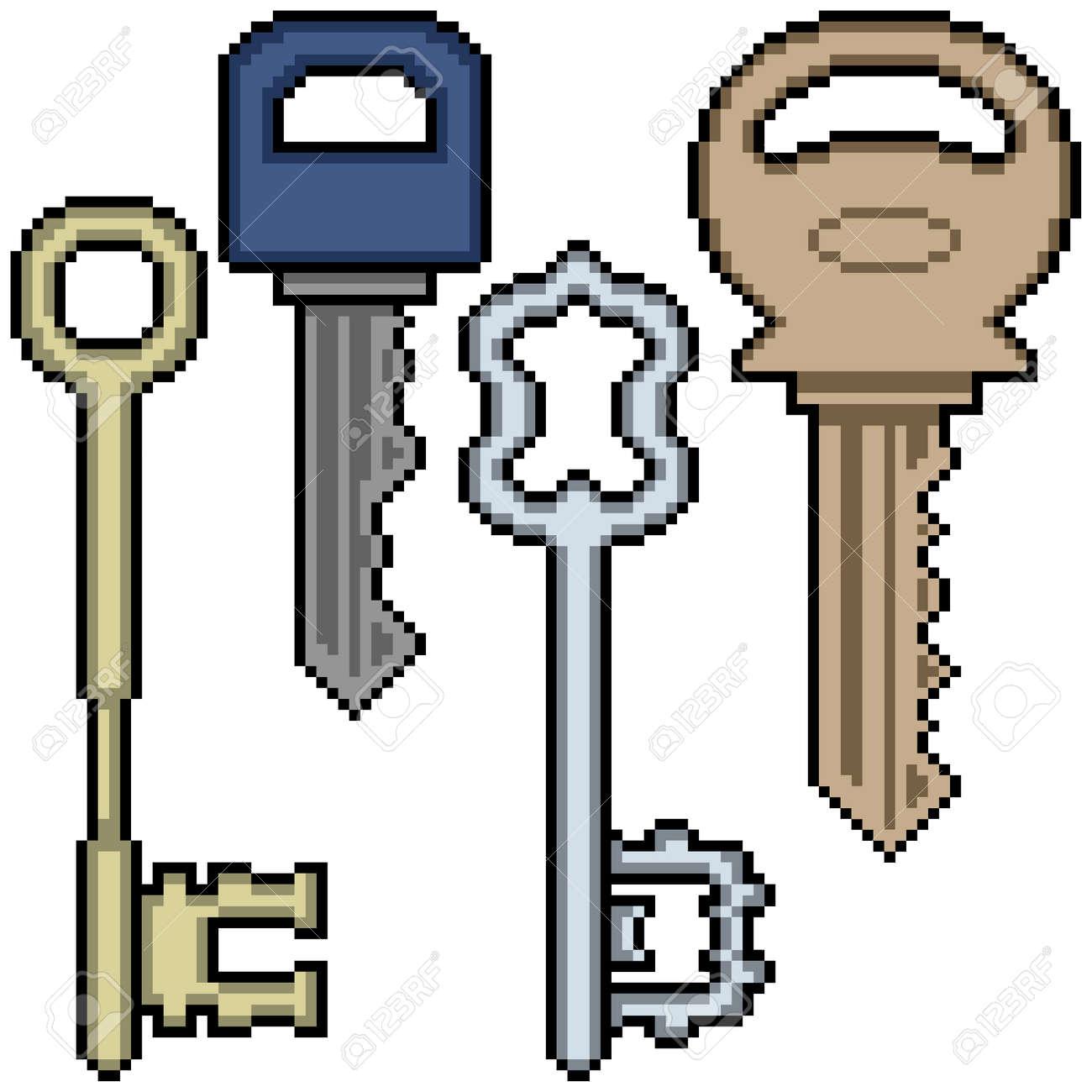 pixel art of various key - 169836185