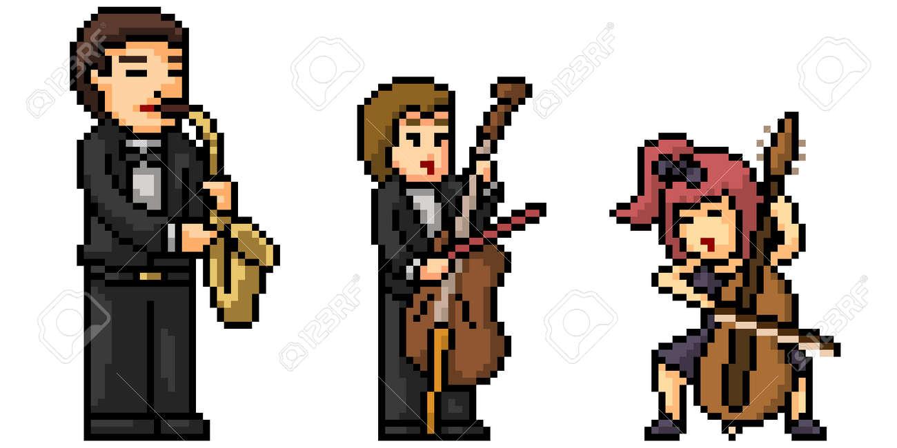 pixel art of classic music band - 171106459