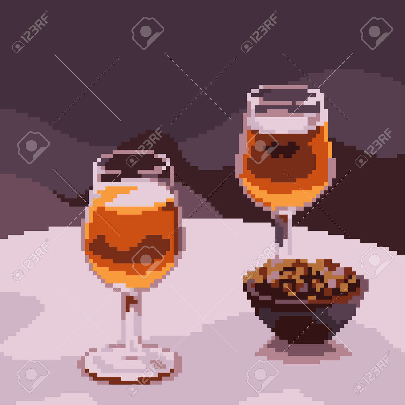 pixel art of luxury drink glass - 172134950