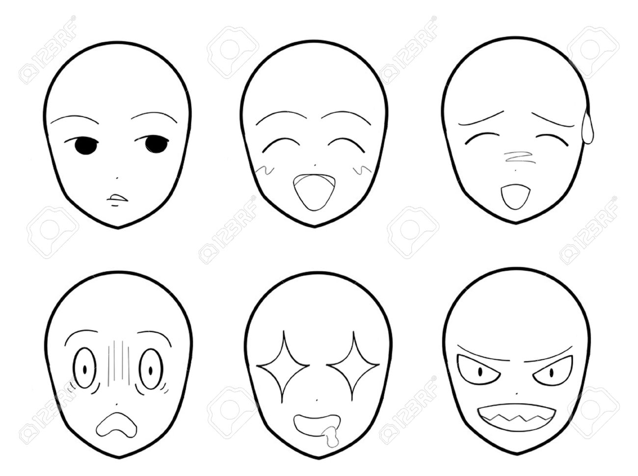 Anime Facial Expressions