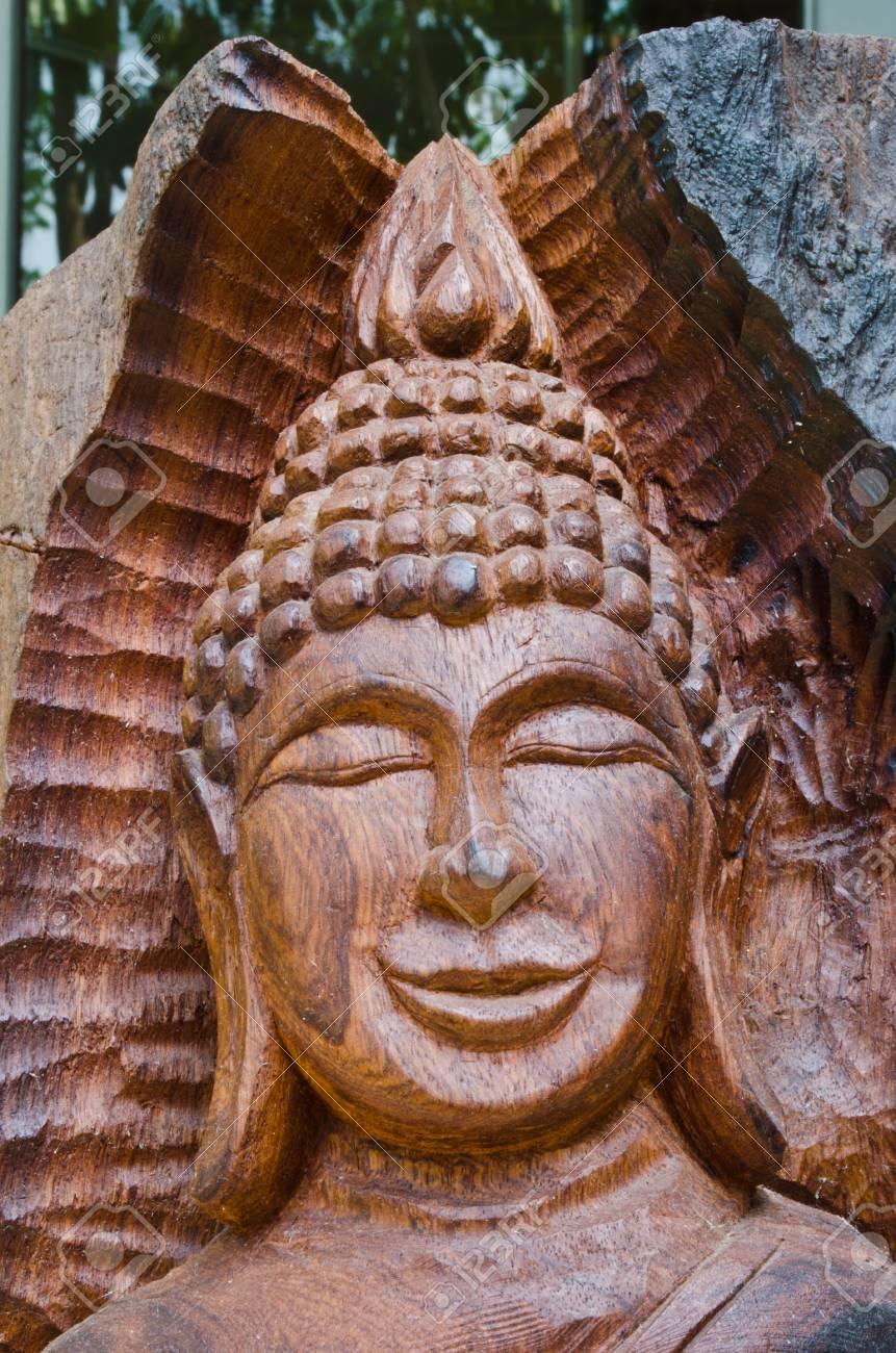 Wooden Buddha Image Stock Photo - 13135020