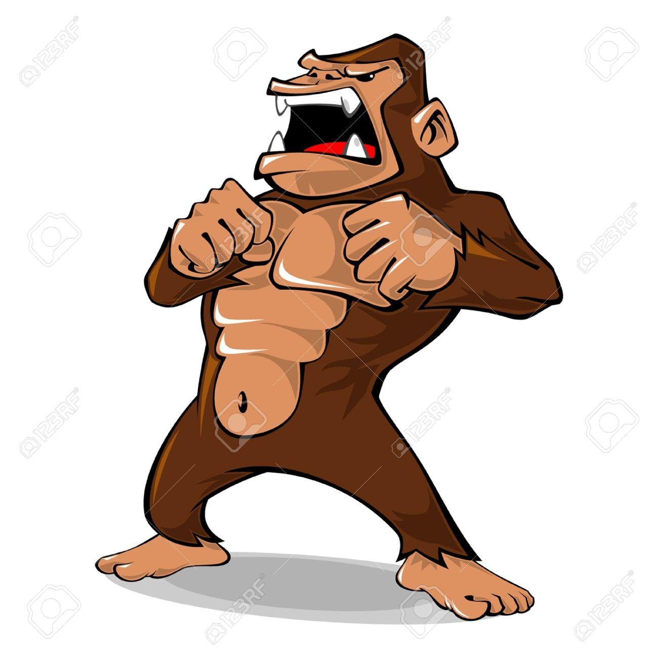 24 561 gorilla stock vector illustration and royalty free gorilla rh 123rf com gorilla clipart easy gorilla clipart gif