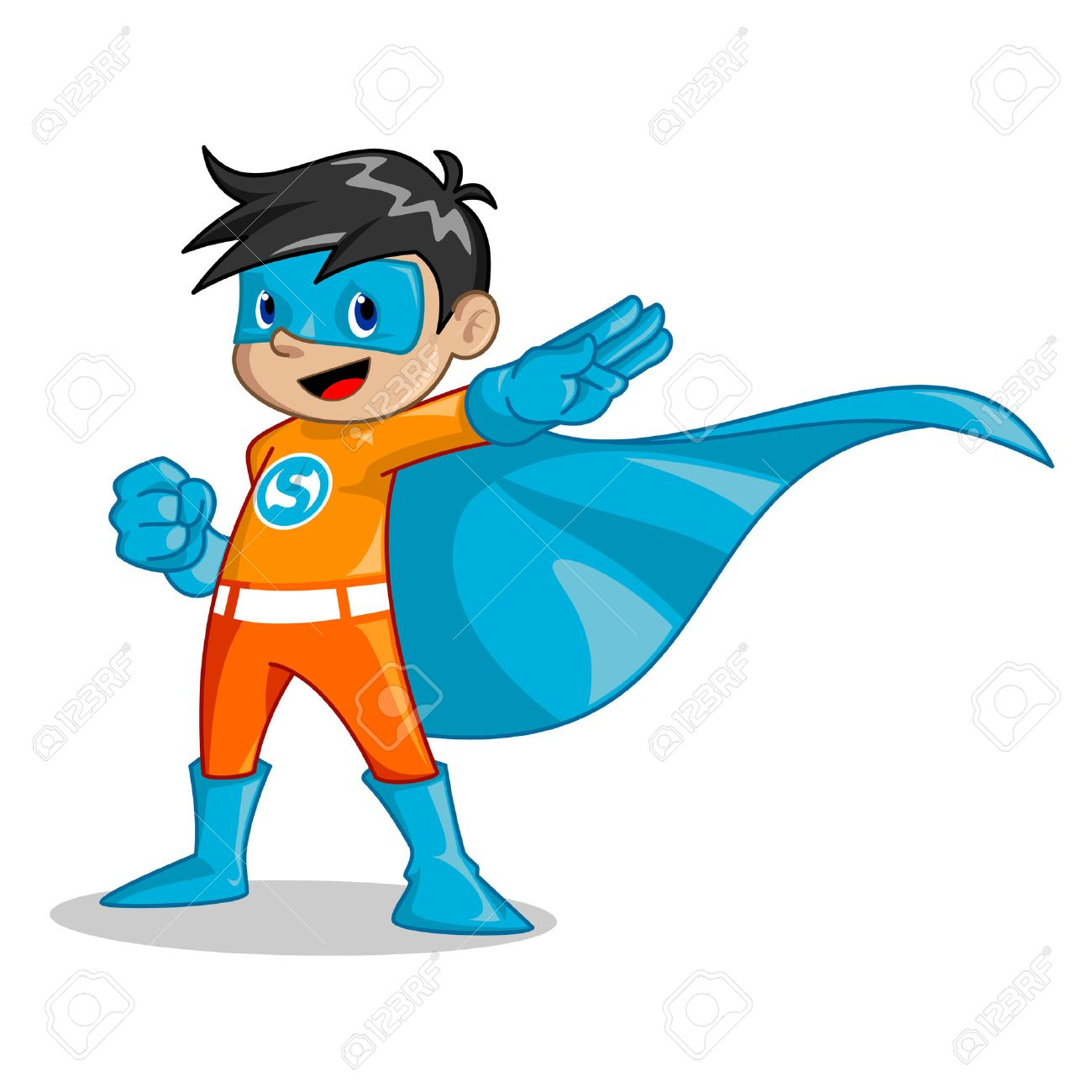 Illustration of boy that be the super hero it can be used as a mascot for education company for children organization for kid and any other business. - 41450395