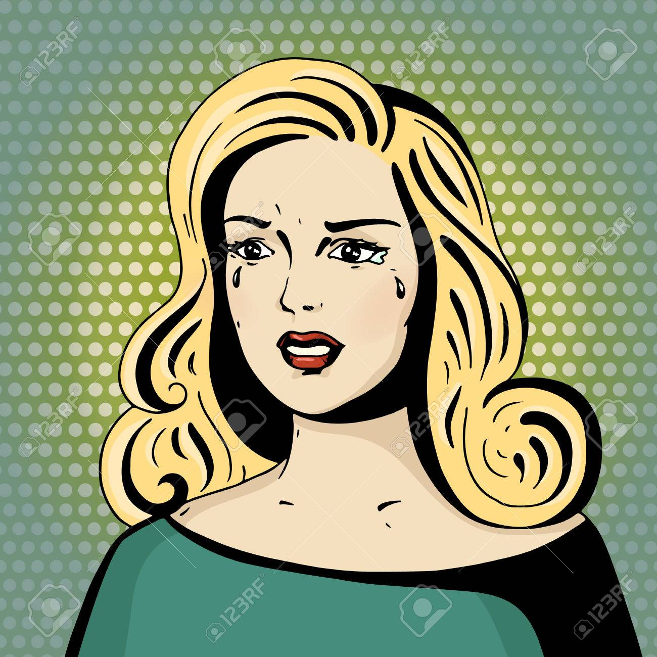 63718270-pop-art-beautiful-woman-crying-cartoon-blonde-hollywood-movie-star-vintage-advertising-poster-about- Awesome Pop Art Comic Girl Crying @koolgadgetz.com.info