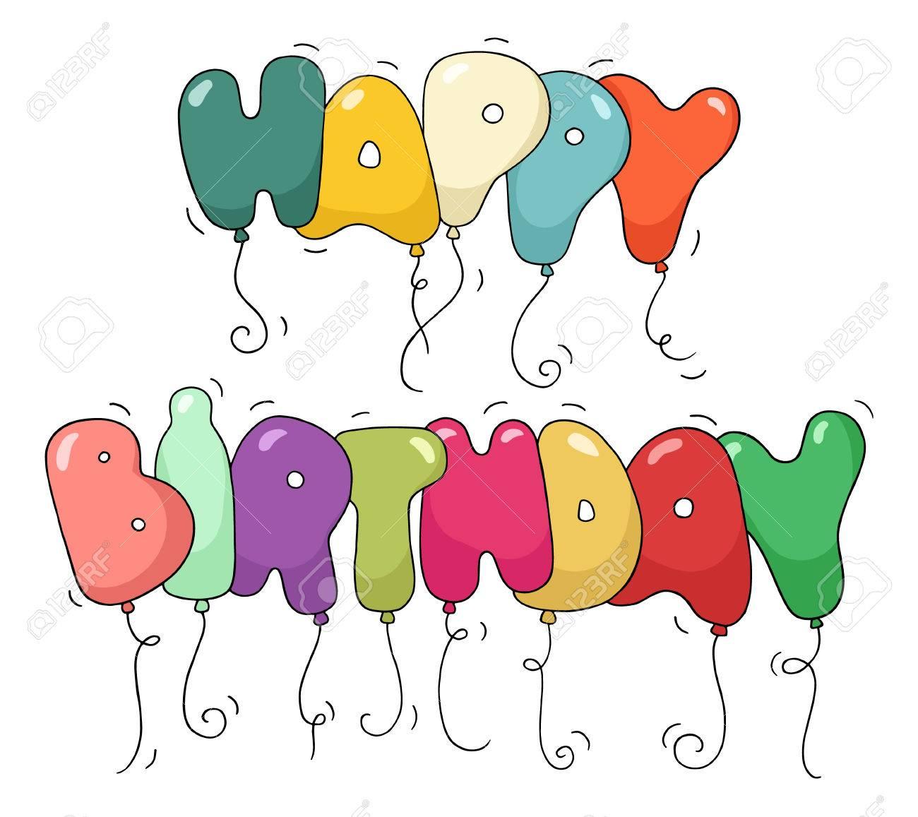 Lindo Color De La Burbuja En Forma De Frase - Feliz Cumpleaños ...
