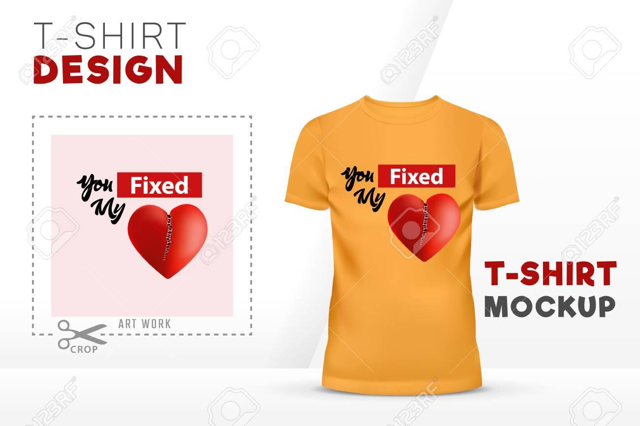 You Fixed My Heart T Shirt Design 3d Heart Vector T Shirt Template