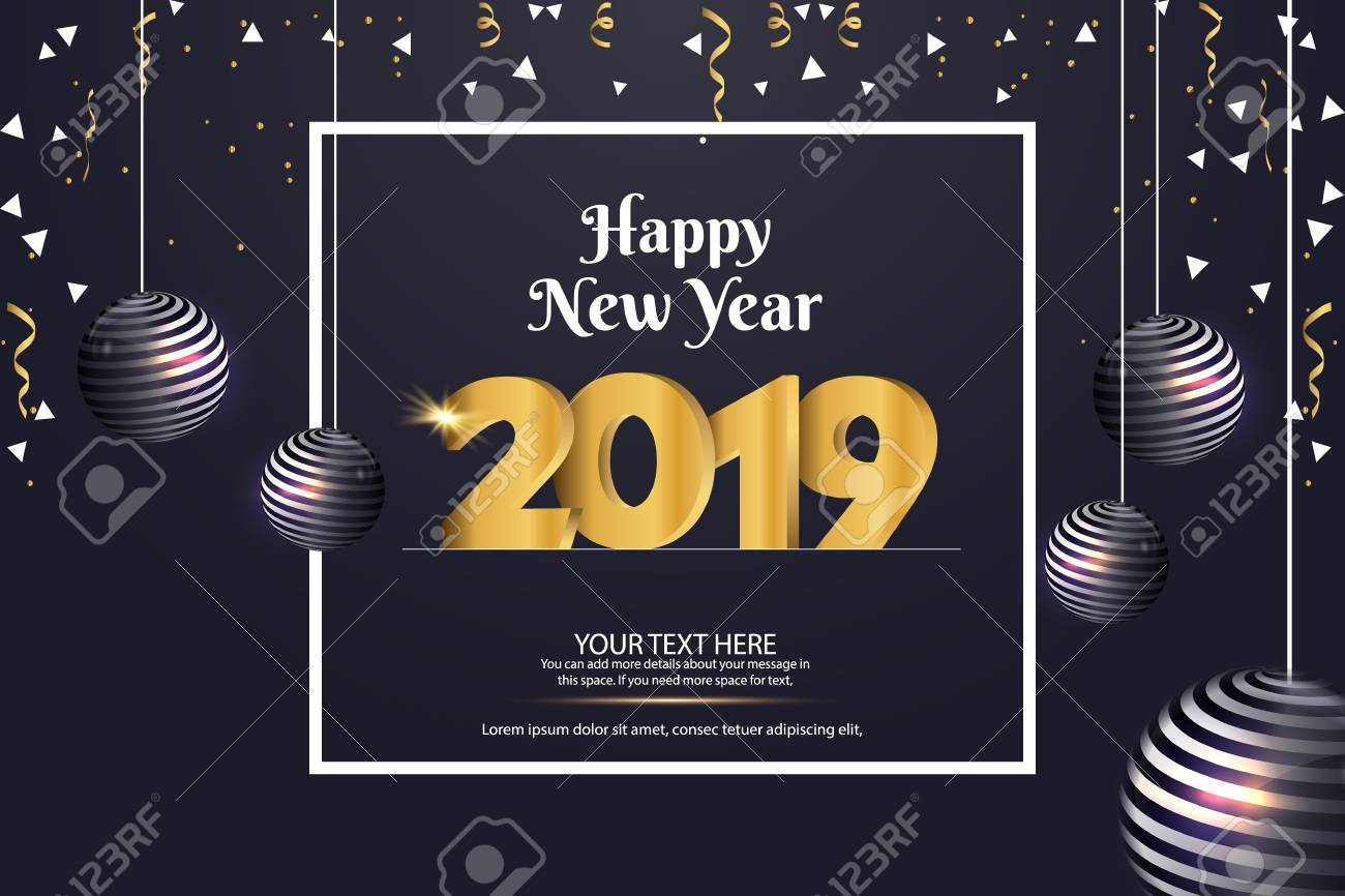 happy new year 2019 sale abstract vector background template design stock vector 109946427