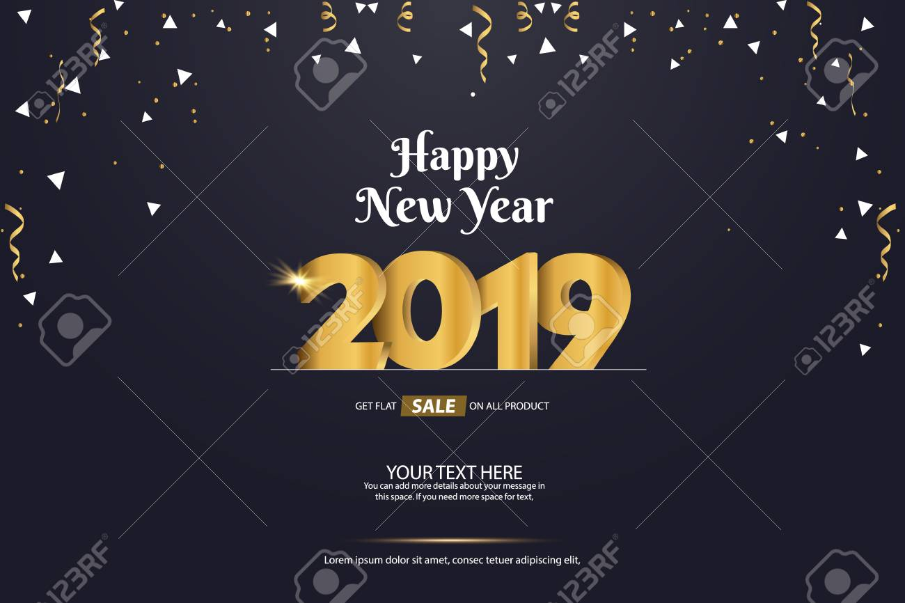 happy new year 2019 sale abstract vector background template design stock vector 109946428