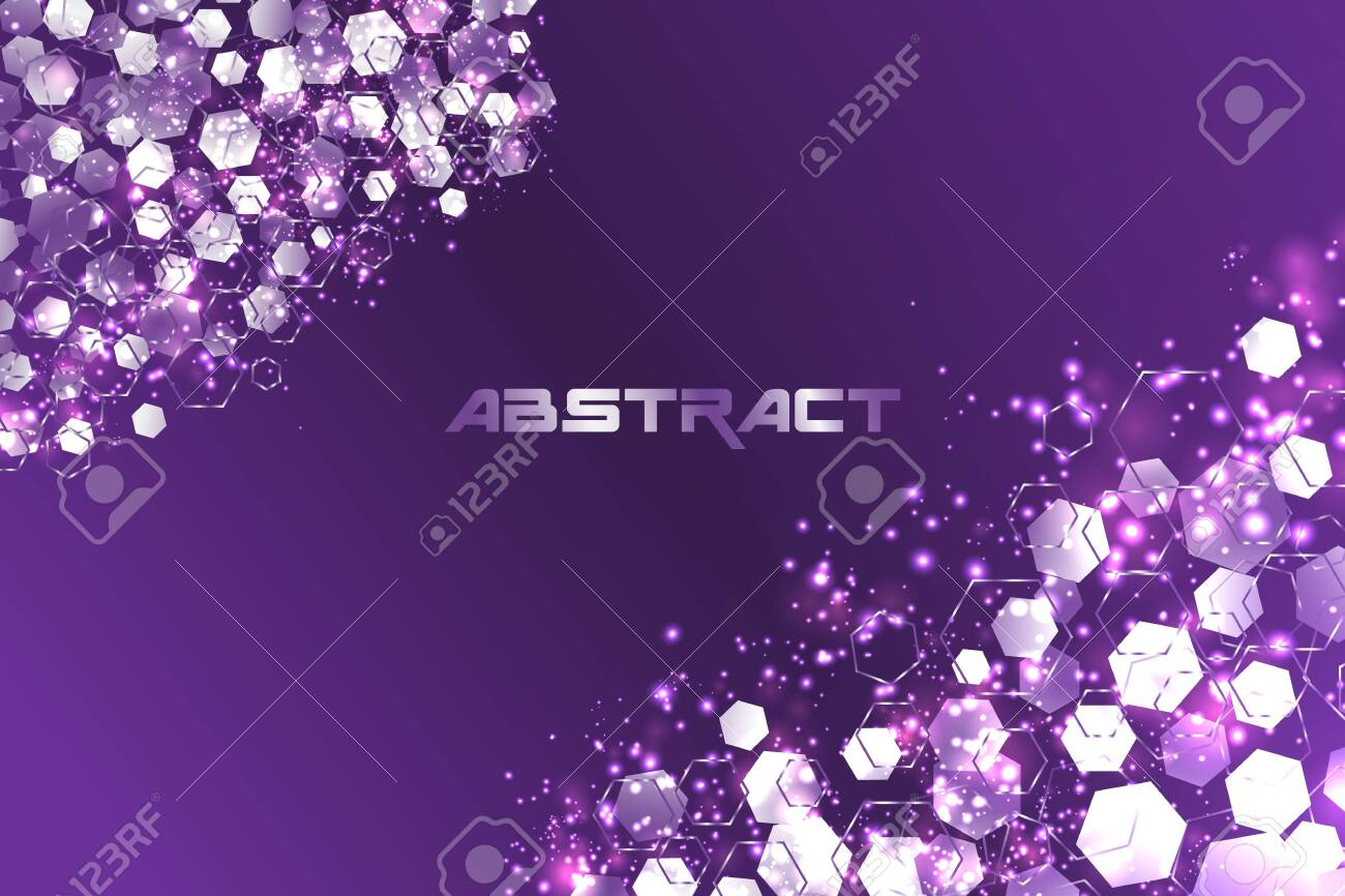 Abstract hexagonal Technology background. concept - 136352090