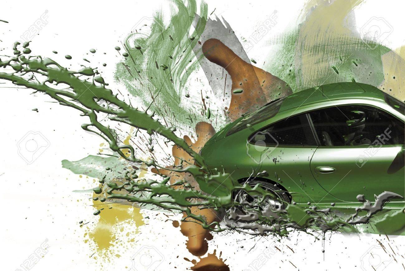 Green car paint colors - Car Paint Colors Sports Car Green Color Illustration Stock Illustration 4948942