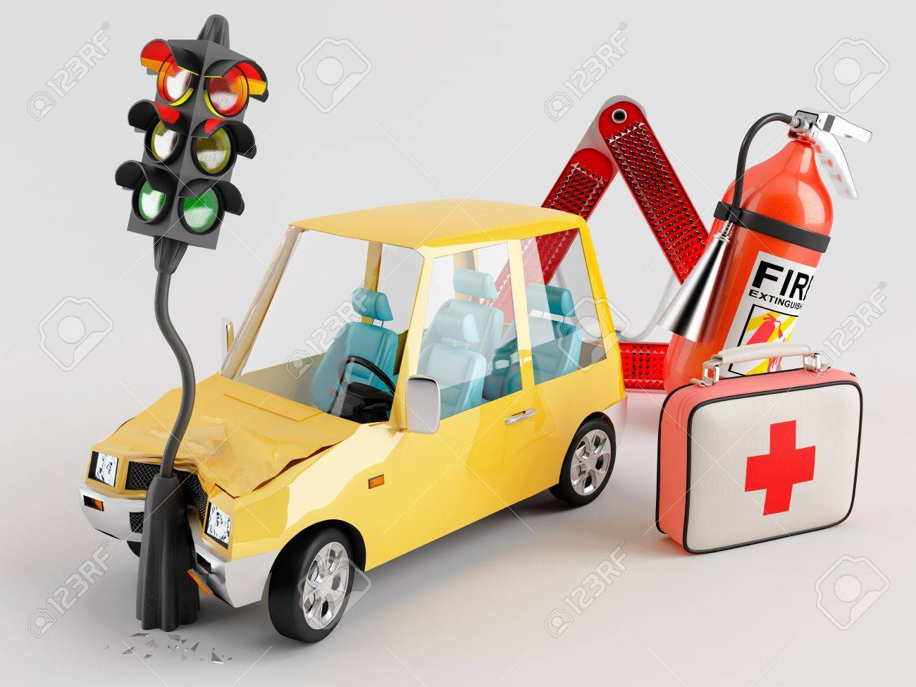 Car emergency kit that can be very useful in the crash occurred Stock Photo - 13667657