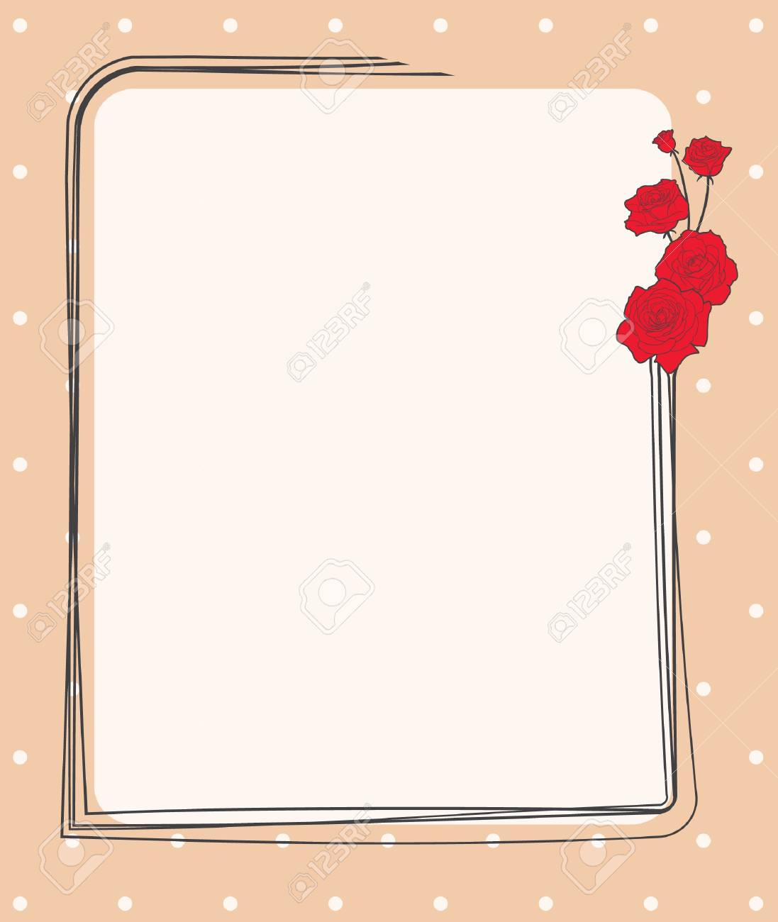Card illustration with roses Stock Vector - 13758989