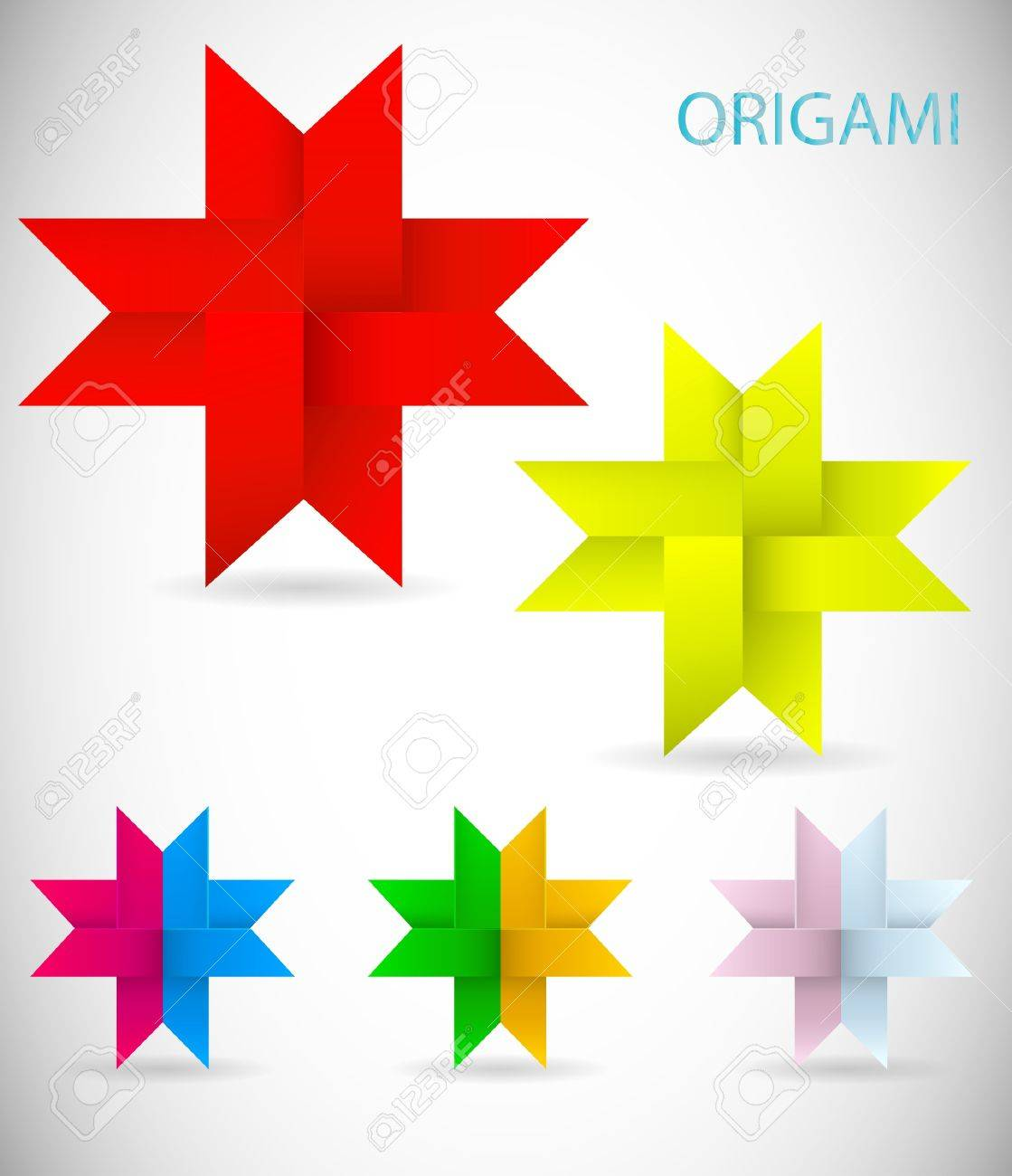 illustration of a simple origami Stock Vector - 14243969