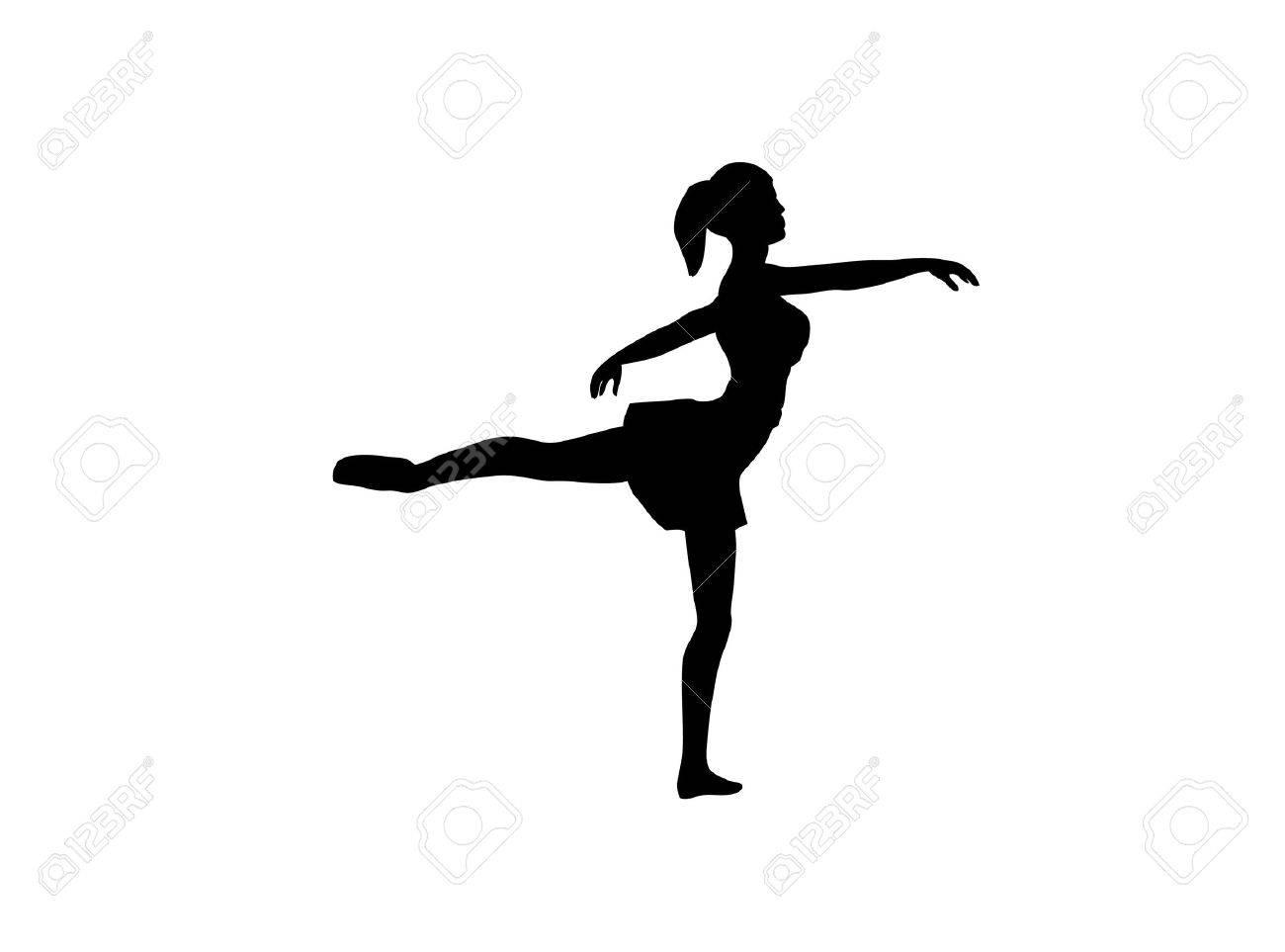 Silueta de un bailarín de ballet. Foto de archivo - 2673110